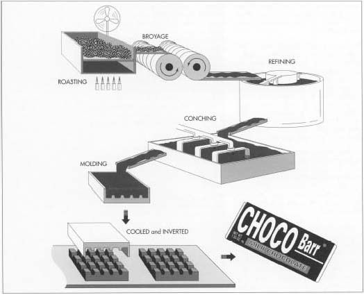 How Chocolate Is Made Material Manufacture Making