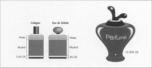 It is the ratio of alcohol to scent that determines perfume, eau de toilette, and cologne.