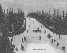 "While entitled ""The Game of Ski,"" this 1892 article in Harper's Weekly referred to the sport as ""snow skating."" (From the collections of Henry Ford Museum & Greenfield Village.)"