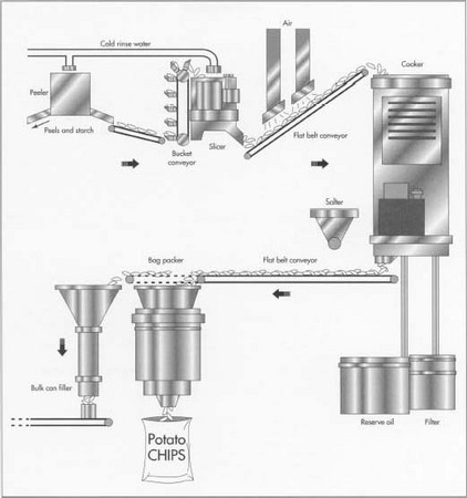 How potato chip is made - used, processing, product, machine, Raw