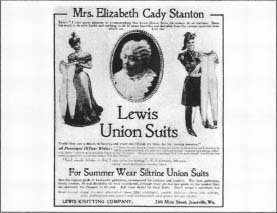 An advertisement for Lewis union suits issued by the Lewis Knitting Company during the late 1800s. (From the collections of Henry Ford Museum & Greenfield Village, Dearborn, Michigan.)