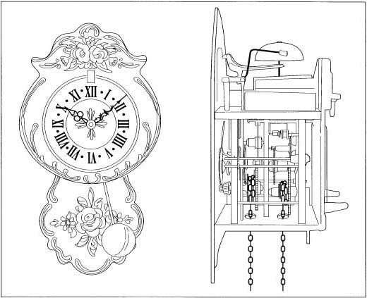 Cuckoo Clock Drawings a Cuckoo Clock And a Sideview