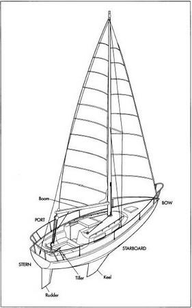 A sailboat.