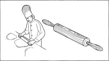 Rolling pins are typically used to smooth out dough.