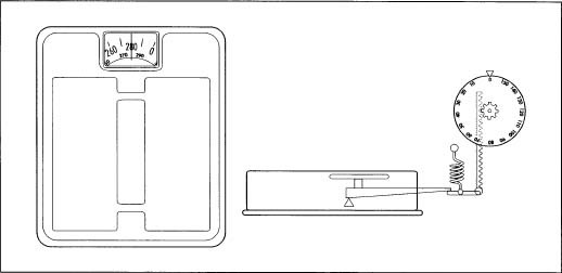 Digital Balance Drawing of a Bathroom Scale