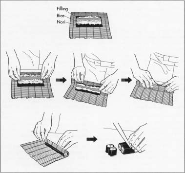 Sushi filing and preparation techniques vary depending on the shokunin.